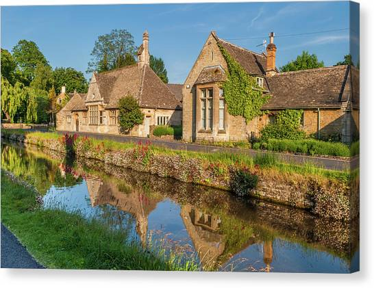 Lower Slaughter And The River Eye Canvas Print by David Ross