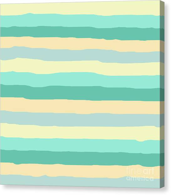 lumpy or bumpy lines abstract and summer colorful - QAB271 Canvas Print
