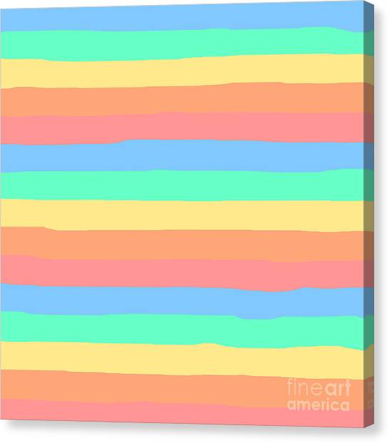 lumpy or bumpy lines abstract and summer colorful - QAB275 Canvas Print