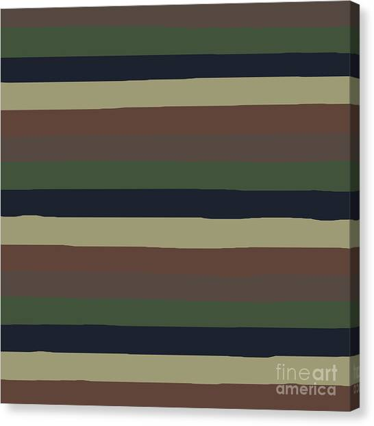 Army Color Style Lumpy Or Bumpy Lines - Qab279 Canvas Print