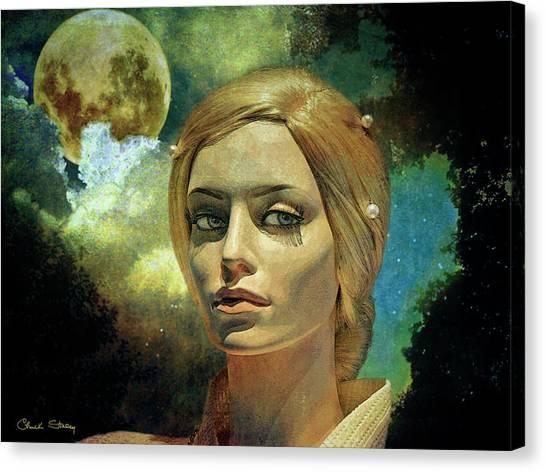 Luna In The Garden Of Evil Canvas Print