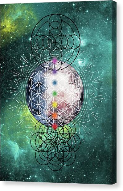 Canvas Print featuring the digital art Lunar Mysteries by Bee-Bee Deigner