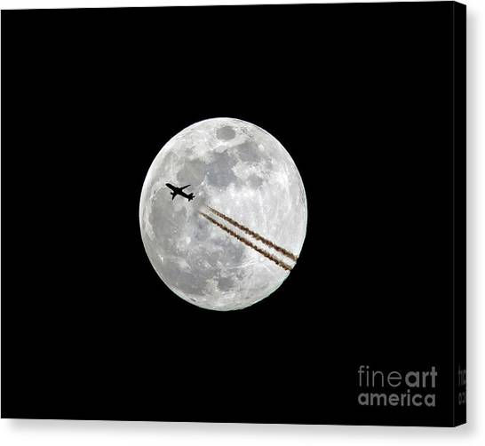Lunar Photobomb Canvas Print