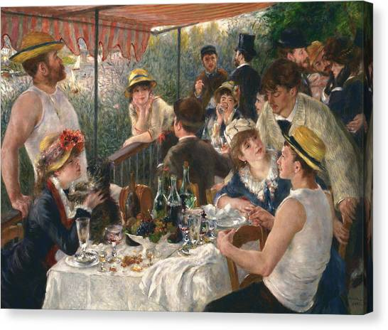 Luncheon Of The Boating Party, 1880-1881 Canvas Print