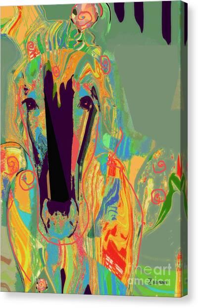 Lungta Windhorse No 6 Canvas Print