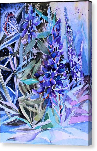 Canvas Print - Lupine And Karner Butterfly by Mindy Newman