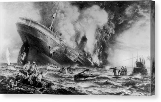 Lusitania Sunk Canvas Print by Three Lions