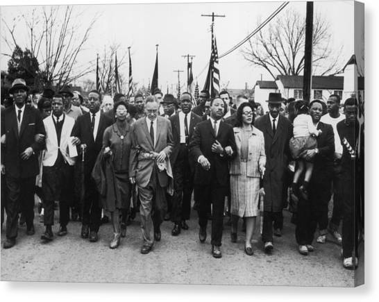 Luther King Marches Canvas Print