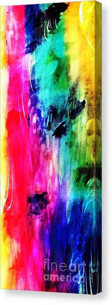 Canvas Print featuring the mixed media Luxe Splash  by Rachel Maynard