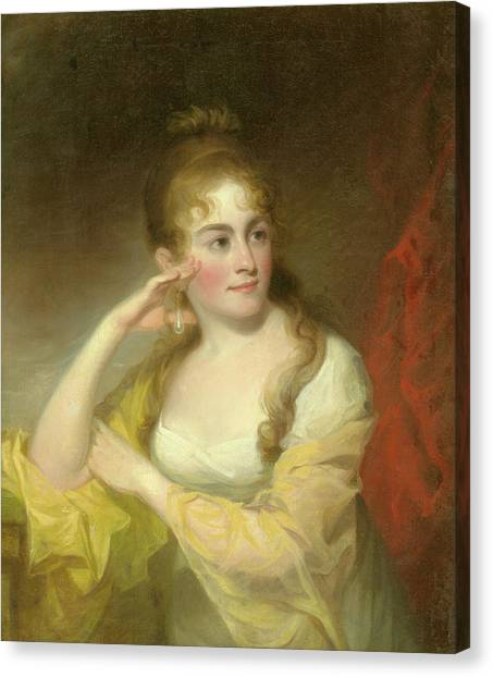 Portrait Of Lydia Leaming, 1806 Canvas Print