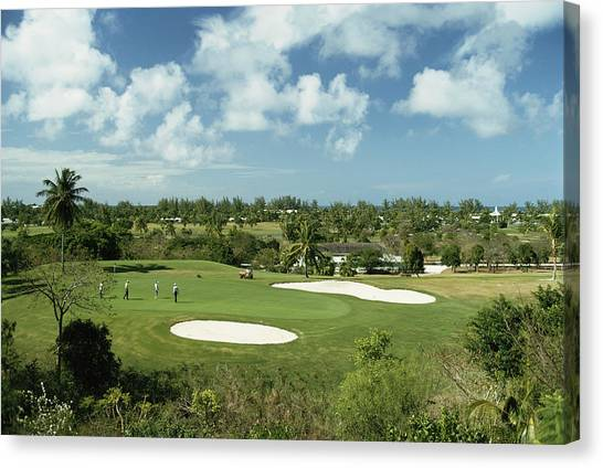 Lyford Cay Golf Course Canvas Print