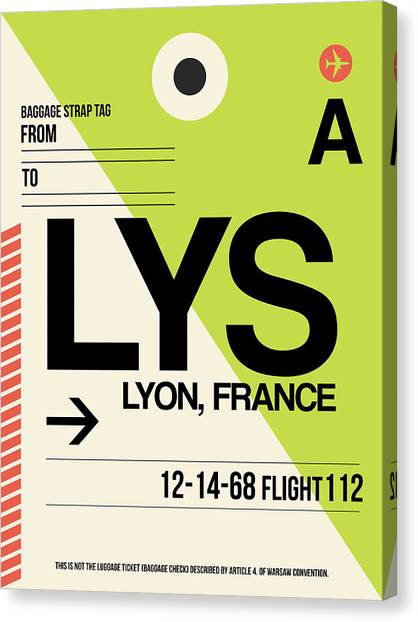 French Canvas Print - Lys Lyon Luggage Tag I by Naxart Studio