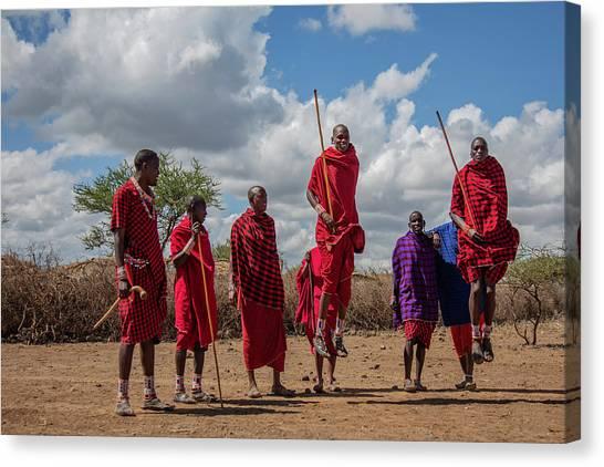 Maasai Adumu Canvas Print