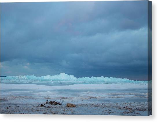 Mackinaw City Ice Formations 21618011 Canvas Print