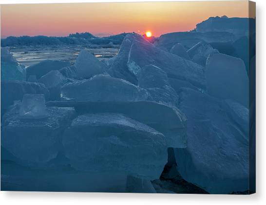 Mackinaw City Ice Formations 21618013 Canvas Print