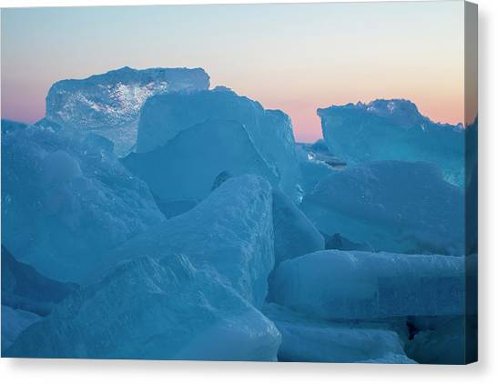 Mackinaw City Ice Formations 2161804 Canvas Print