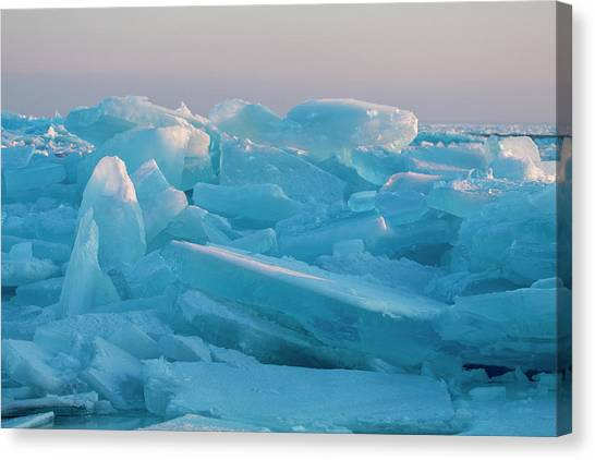 Mackinaw City Ice Formations 2161807 Canvas Print