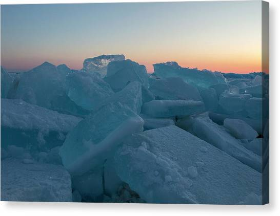 Mackinaw City Ice Formations 2161808 Canvas Print