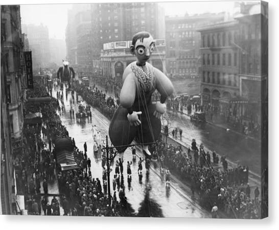 Macys Thanksgiving Day Parade Canvas Print by Fpg