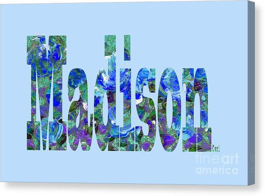 Canvas Print featuring the digital art Madison by Corinne Carroll