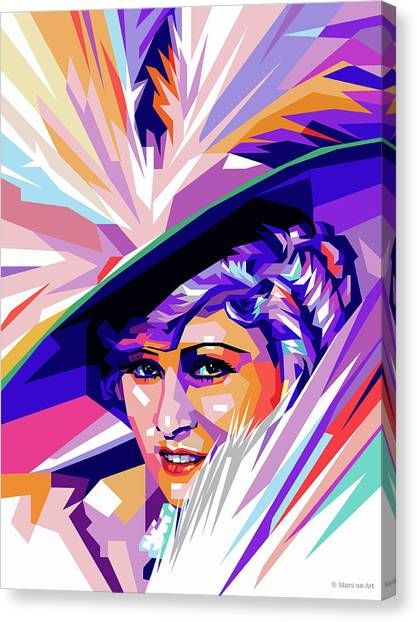 West Canvas Print - Mae West Pop Art by Stars on Art
