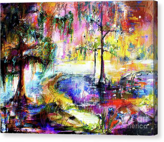 Magic Of The Wetland Okefenokee Georgia Canvas Print by Ginette Callaway