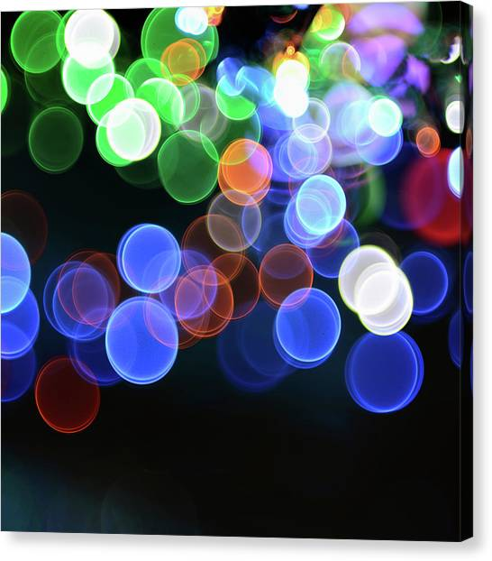 Magical Lights Background Canvas Print by Alubalish