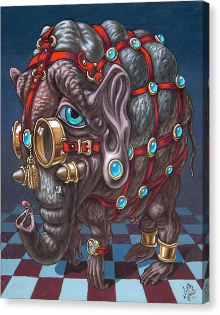 Magical Many-eyed Elephant Canvas Print