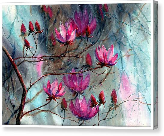 Cemetery Canvas Print - Magnolia At Midnight by Suzann Sines