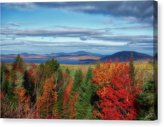 Maine Fall Foliage Canvas Print
