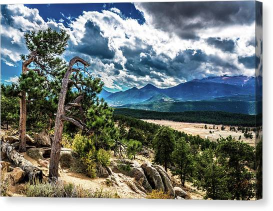 Canvas Print featuring the photograph Majestic Clouds by James L Bartlett