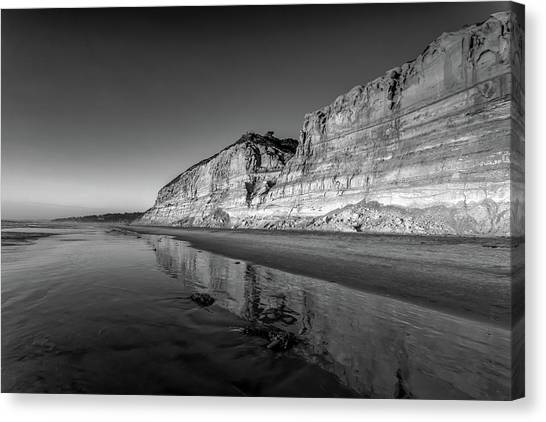 Beach Cliffs Canvas Print - Majestic by Peter Tellone