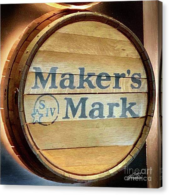 Makers Mark Barrel Canvas Print
