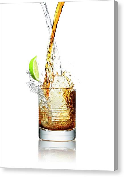 Making A Cocktail Splash In A Glass Canvas Print