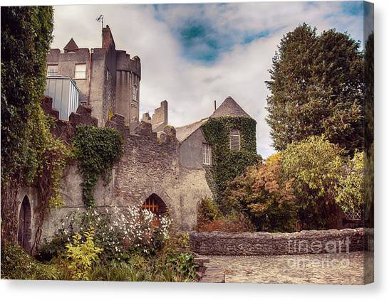 Malahide Castle By Autumn  Canvas Print