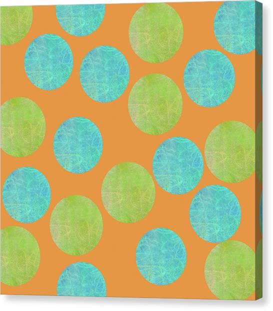 Malaysian Batik Polka Dot Print Canvas Print
