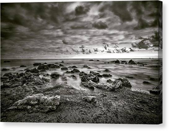 Canvas Print featuring the photograph Malibu Clouds by John Rodrigues