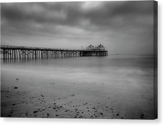 Canvas Print featuring the photograph Malibu Pier by John Rodrigues