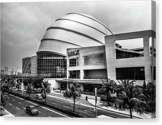 Canvas Print featuring the photograph Mall Of Asia 3 by Michael Arend