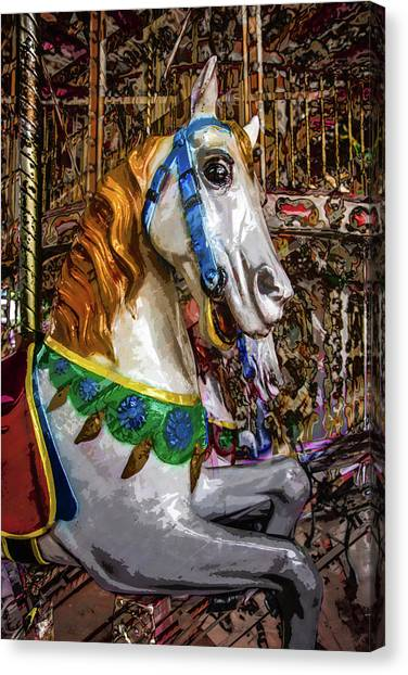 Mall Of Asia Carousel 1 Canvas Print