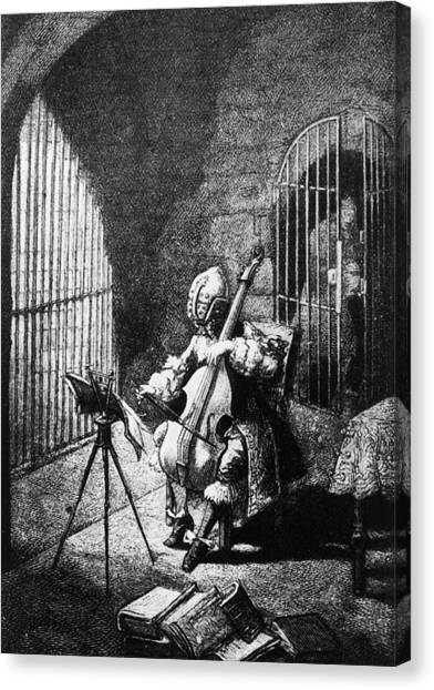 Man In The Iron Mask Canvas Print by Hulton Archive