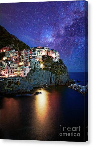 Manarola By Stars Canvas Print