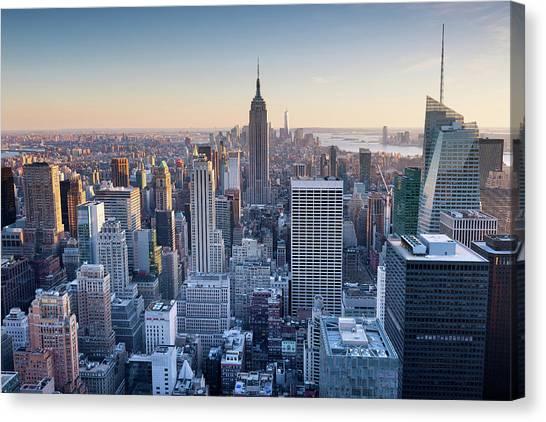 Manhattan Skyline Canvas Print by Chris Hepburn