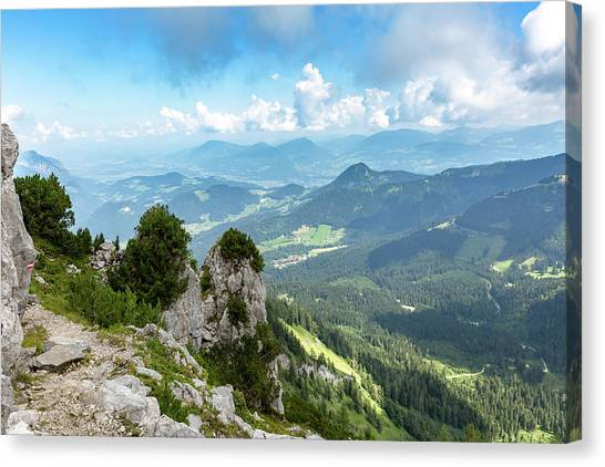 Canvas Print featuring the photograph Mannlsteig, Berchtesgadener Land by Andreas Levi