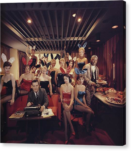 Mans Work Canvas Print by Slim Aarons