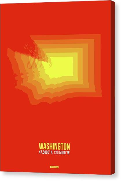 Vancouver Canvas Print - Map Of Washington by Naxart Studio