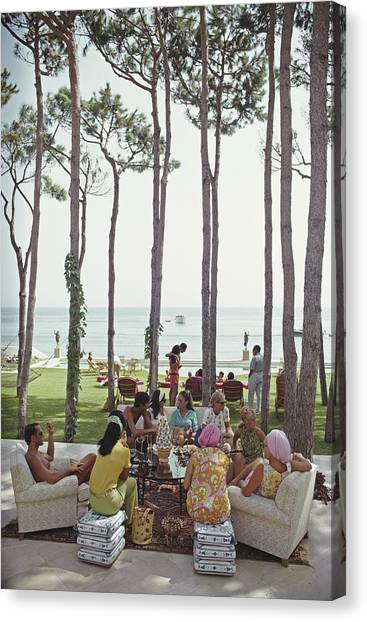 Marbella House Party Canvas Print