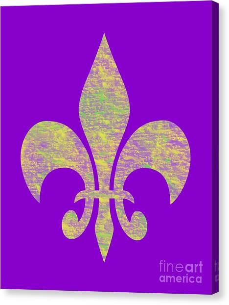Mardi Gras Party Fleur De Lis Canvas Print