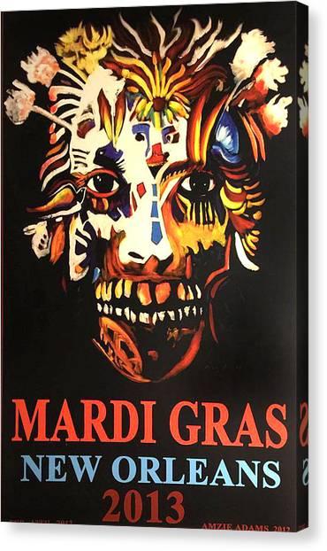 Mardi Gras Spirit 2013 Canvas Print