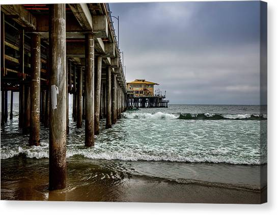 Mariasol On The Pier 2 Canvas Print